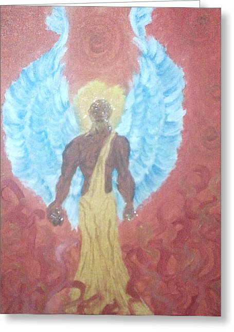 Nephilim Greeting Card by Violette Meier