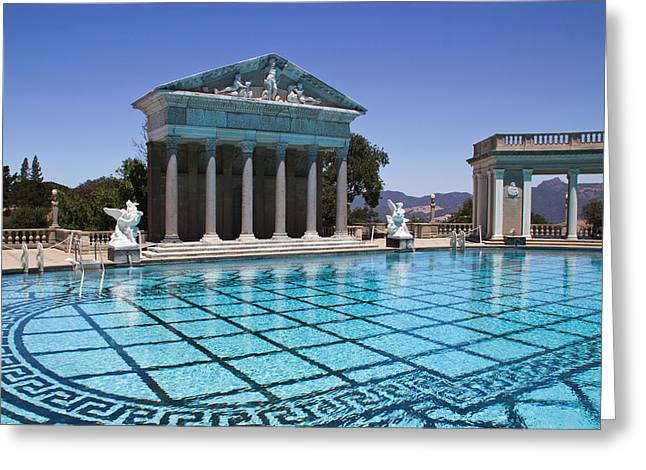 Neptune Pool Hearst Castle Greeting Card