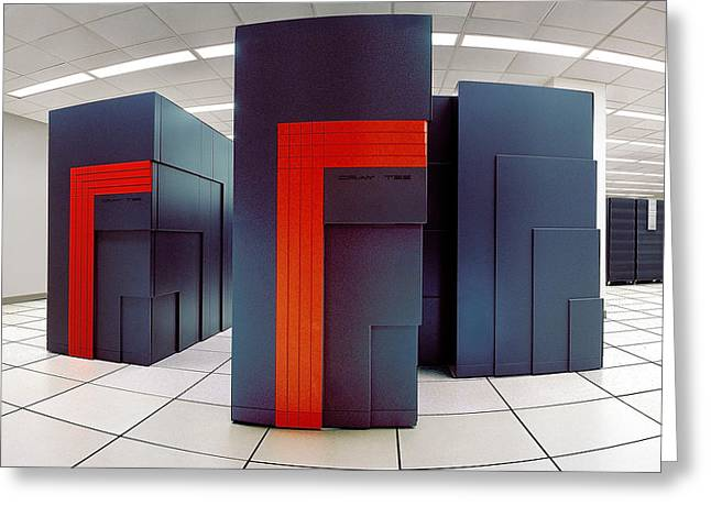 Nersc Supercomputers Greeting Card by Lawrence Berkeley National Laboratory