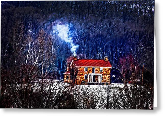 Nestled In For The Winter Greeting Card by Randall Branham