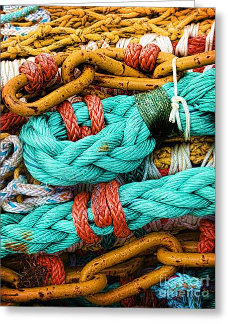 Nets And Knots Number Four Greeting Card by Elena Nosyreva