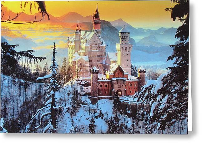 Neuswanstein Winter Greeting Card