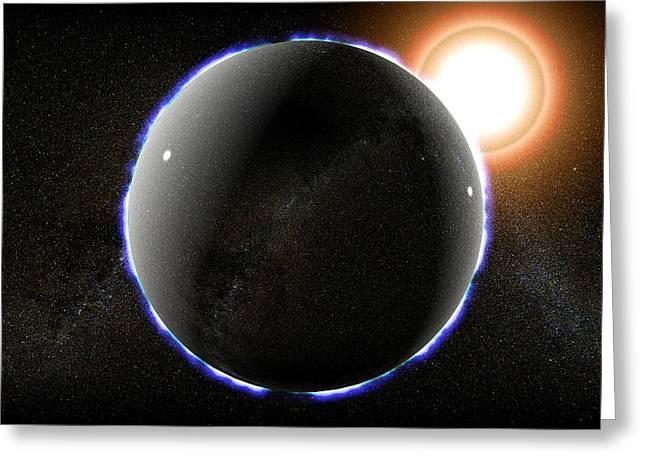 Neutron Star, Artwork Greeting Card by Christian Darkin