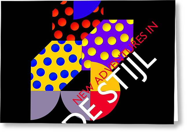New Adventures In De Stijl Greeting Card by Charles Stuart