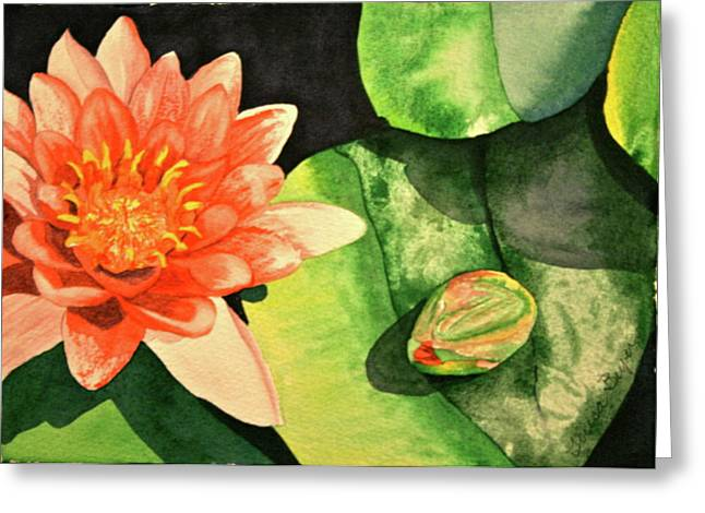 Greeting Card featuring the painting New Beginnings by Teresa Beyer