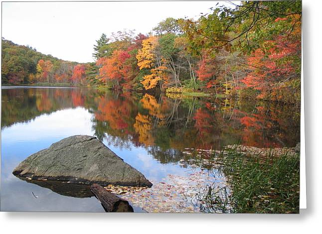 New England Autumn Greeting Card by Jf Halbrooks