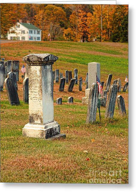 New England Cemetery Greeting Card