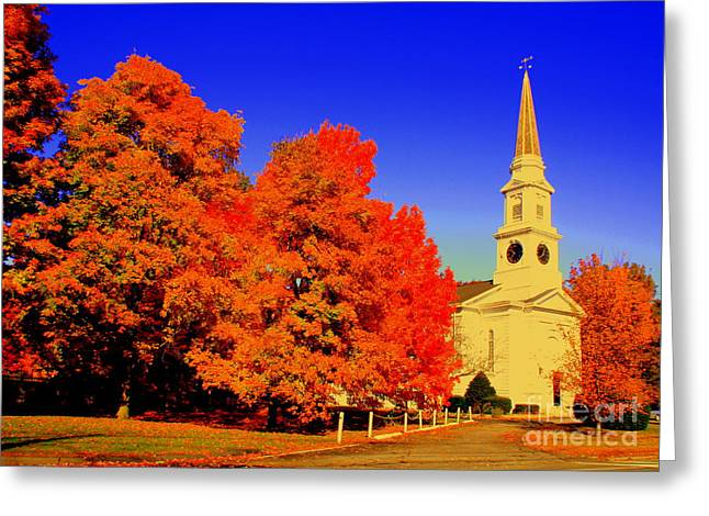 New England Church  Greeting Card