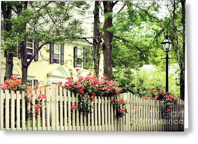 New England Home Greeting Card by HD Connelly