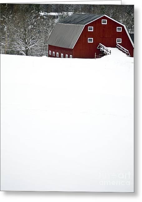 New England Winter Greeting Card by Edward Fielding