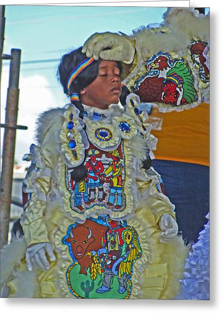 New Generation Of Mardi Gras Indians In New Orleans Greeting Card