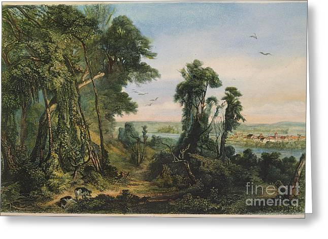 New Harmony, 1844 Greeting Card by Granger
