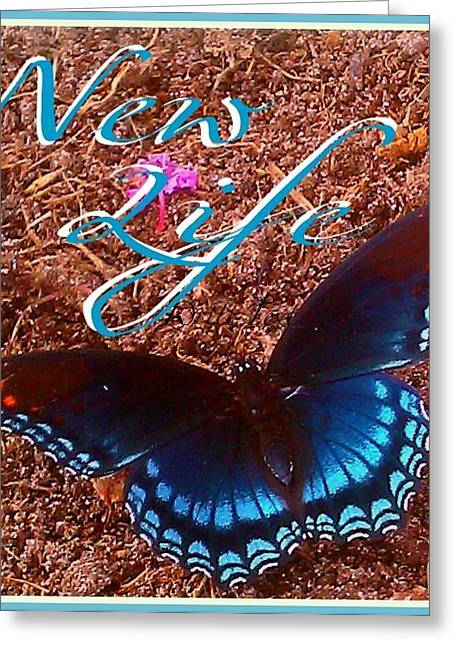 New Life Greeting Card by Jessica Thomas