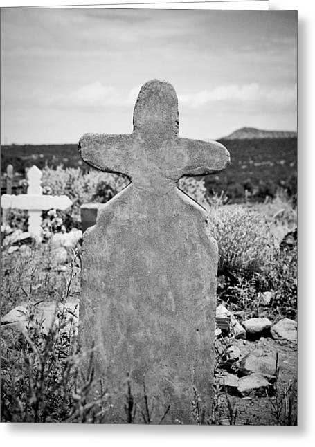 New Mexico Cross Greeting Card by Sonja Quintero