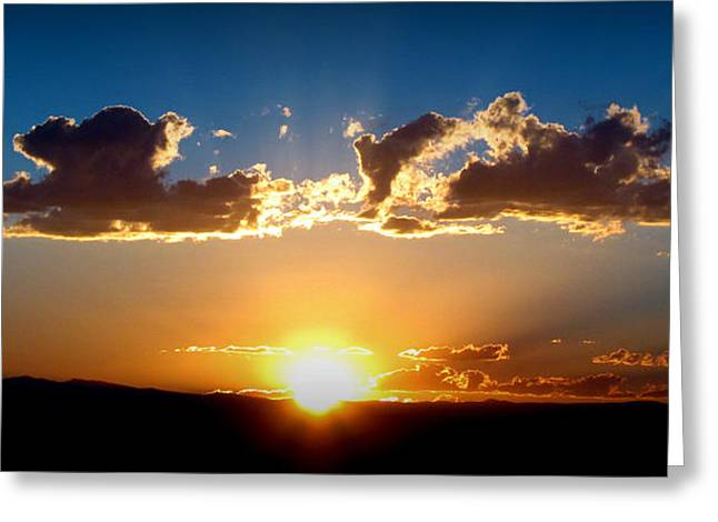 New Mexico Late Summer Skies Greeting Card by Aaron Burrows