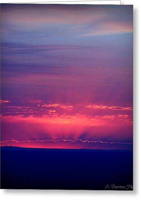 New Mexico Sky Colors Greeting Card by Aaron Burrows