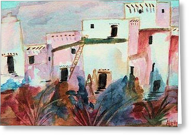New Mexico Sunset Greeting Card by Alethea McKee