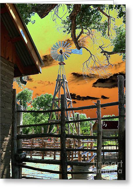 New Mexico Wind Mill Greeting Card