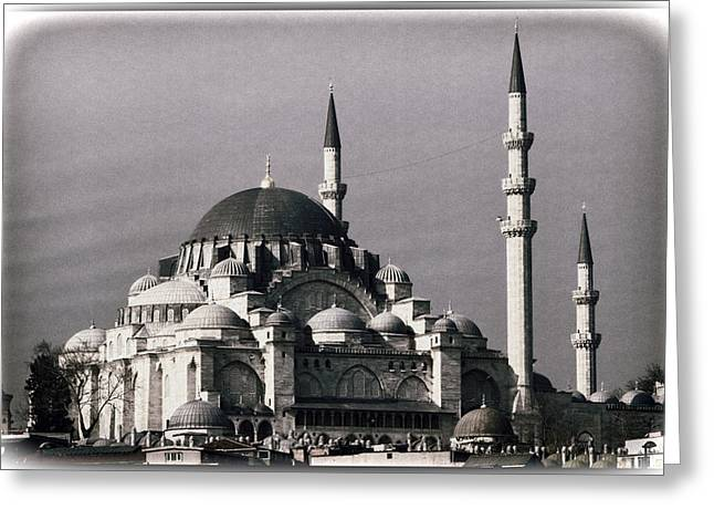 New Mosque Greeting Card by Joan Carroll