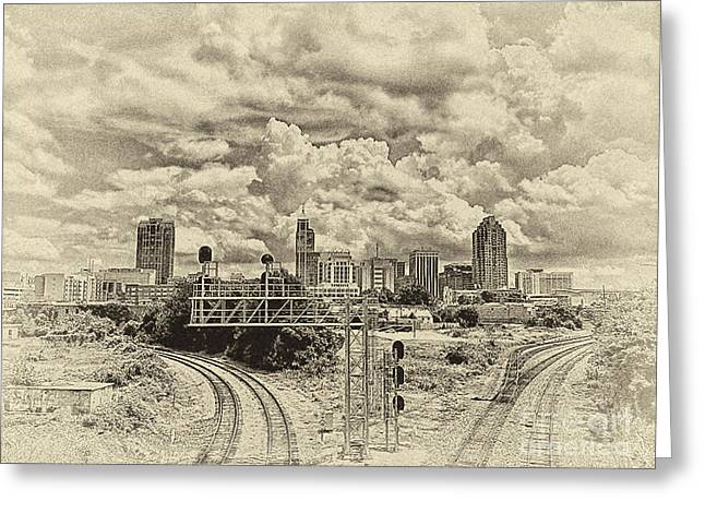 New Old Time Raleigh Nc Greeting Card