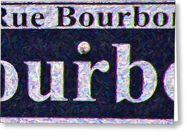 New Orleans Bourbon Street Sign Greeting Card