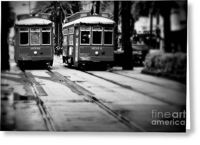 New Orleans Classic Streetcars. Greeting Card by Perry Webster