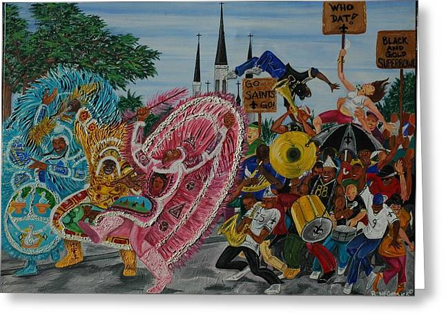 ''new Orleans Secondline'' Greeting Card by Mccormick  Arts