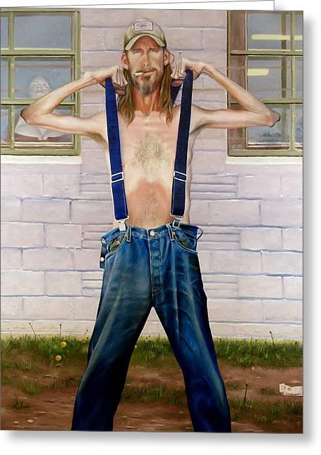 New Suspenders Greeting Card by GPaul Lucas