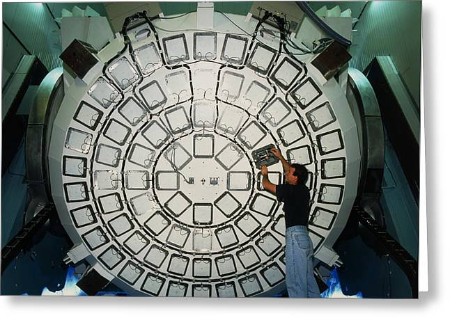 New Technology Telescope's Mirror Actuators Greeting Card by David Parker