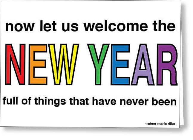 New Year Greeting Card by Katie Hester