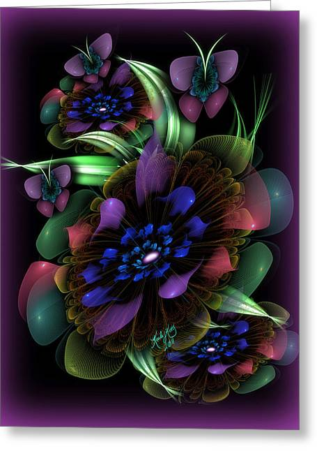 New Year's Bouquet Greeting Card by Karla White