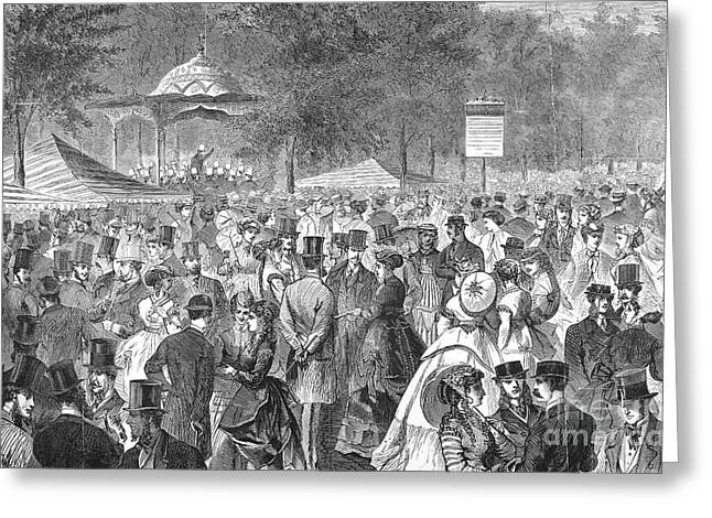 New York: Bandstand, 1869 Greeting Card