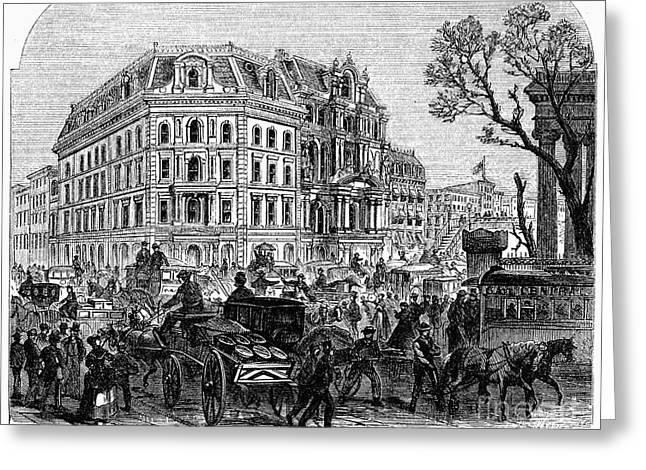 New York: Broadway, 1870s Greeting Card