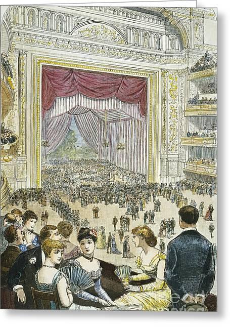 New York Charity Ball, 1883 Greeting Card