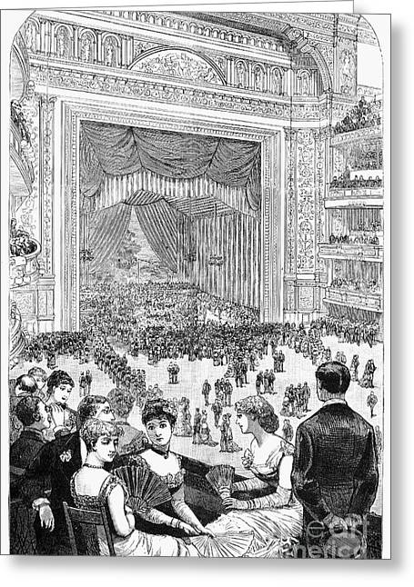 New York Charity Ball, 1884 Greeting Card by Granger