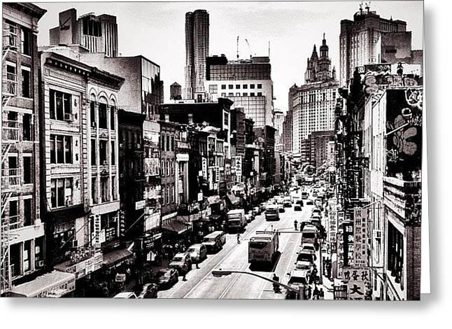 New York City - Above Chinatown Greeting Card