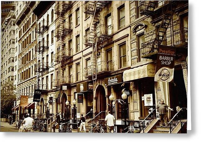 New York City - Back In Time Greeting Card by Vivienne Gucwa