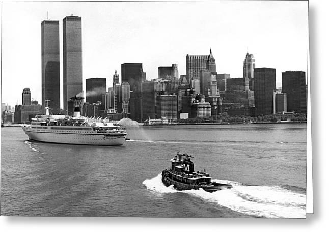 New York City Harbor Greeting Card by Underwood Archives