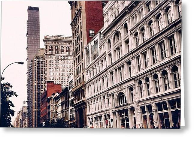 New York City In The Rain Greeting Card by Vivienne Gucwa