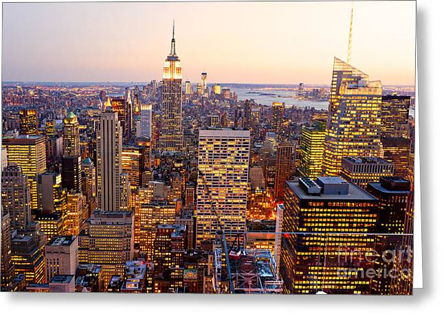 Greeting Card featuring the photograph New York City by Luciano Mortula