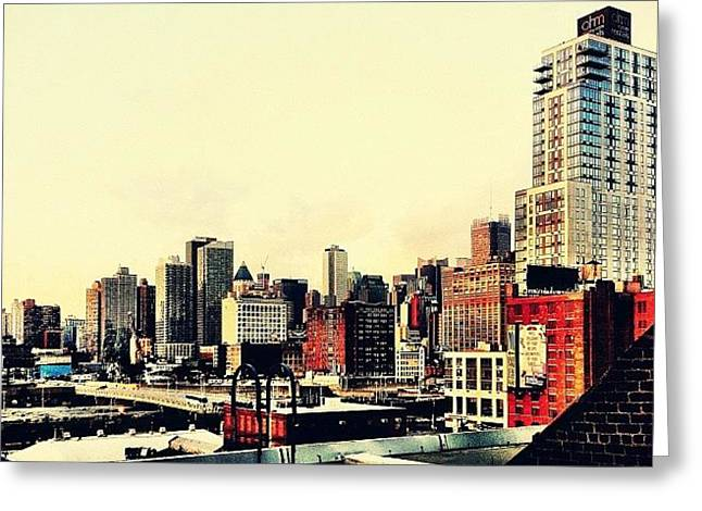 New York City Rooftops Greeting Card by Vivienne Gucwa