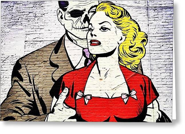 New York City Street Art - Love - Zombie Style Greeting Card