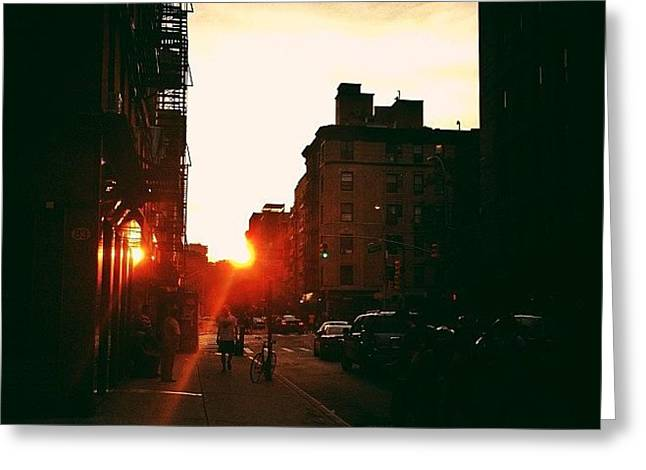 New York City Sunset Greeting Card by Vivienne Gucwa