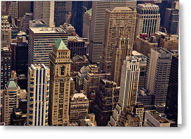 New York City Urban Landscape Greeting Card by Vivienne Gucwa