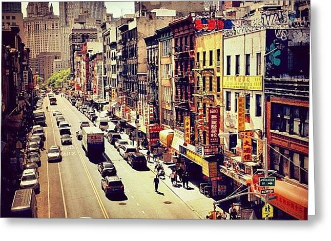 New York City's Chinatown Greeting Card by Vivienne Gucwa