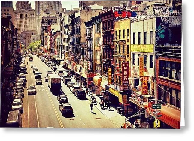 New York City's Chinatown Greeting Card