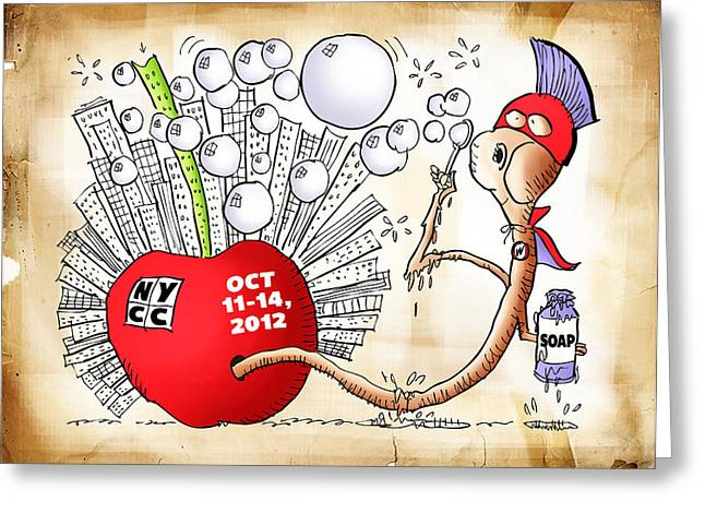 New York Comic Con 2012 Greeting Card by Mark Armstrong