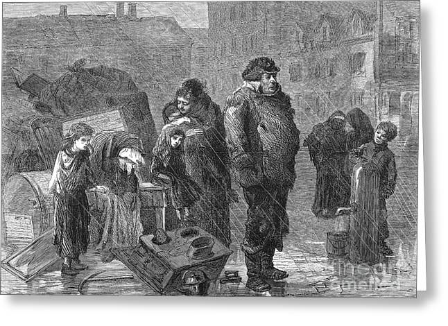 New York: Eviction, 1872 Greeting Card by Granger