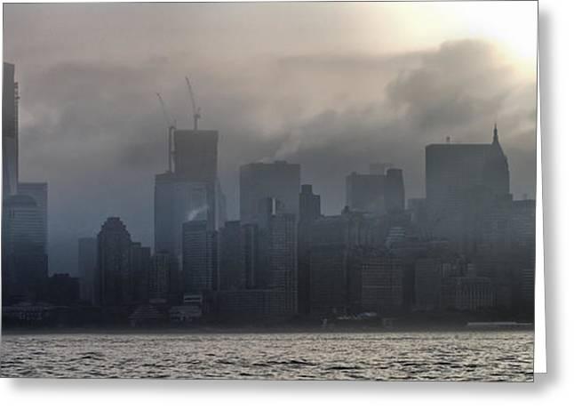 New York Fog Greeting Card by Farol Tomson