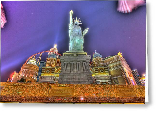 New York In Las Vegas Greeting Card by Nicholas  Grunas